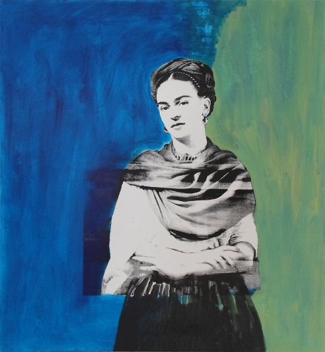 Frida Silk screen + acrylic on canvas; 120cm x 100cm; 2013